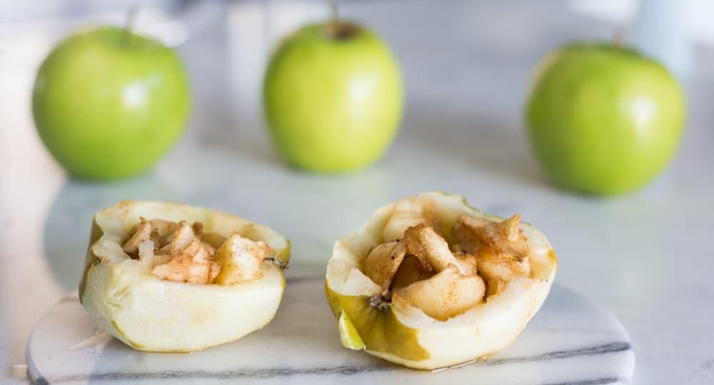 maple stuffed apples