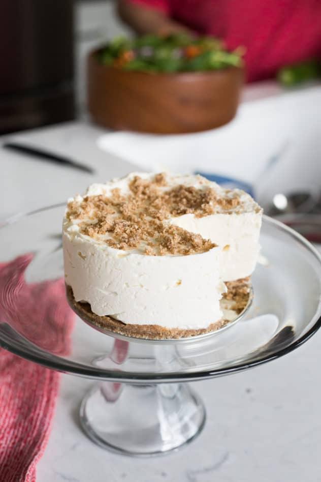 keto frozen cheesecake, keto cheesecake ice cream, low carb frozen cheesecake, gluten free frozen cheesecake