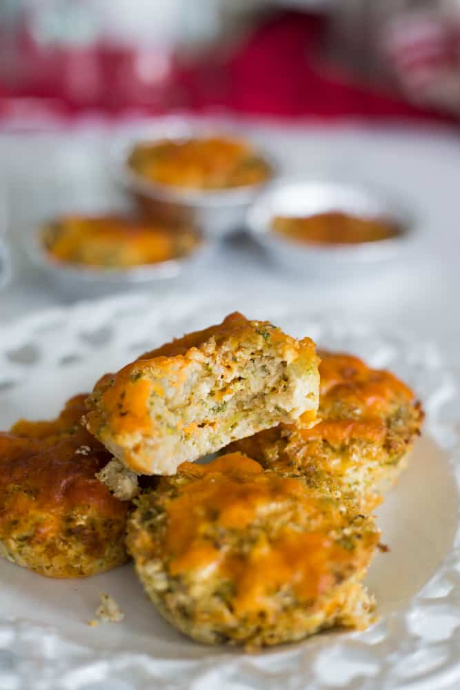 Broccoli And Cheese Cauliflower Muffins The Hungry Elephant