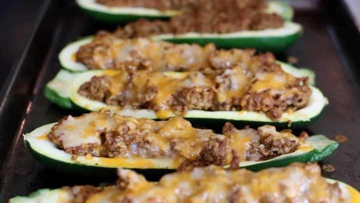 Keto Stuffed Zucchini - Taco Style