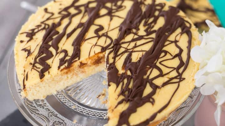 keto boston cream poke cake, boston cream poke cake