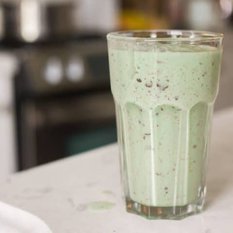 Keto Mint Chocolate Chip Frappuccino