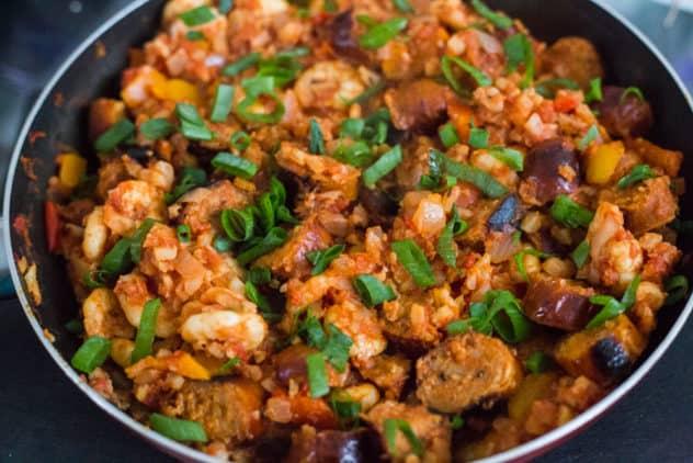 keto jambalaya, keto jambalaya recipe, keto jambalaya cauliflower rice, best keto jambalaya recipe, low carb jambalaya, low carb jambalaya recipe, keto cauliflower jambalaya
