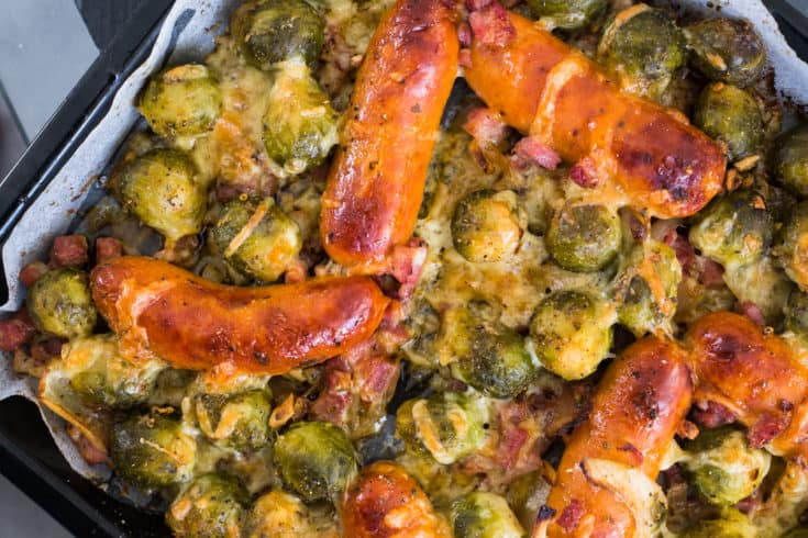 Keto Sheet Pan Brussel Sprouts