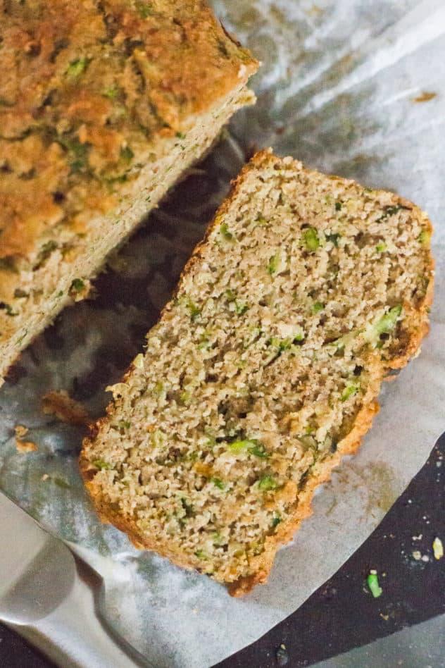 zucchini bread, keto zucchini bread