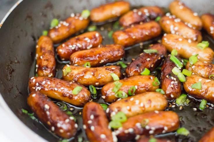 Best Keto Appetizer -  Sesame Sauced Sausages
