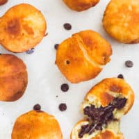 Keto Beignets with Chocolate Filling