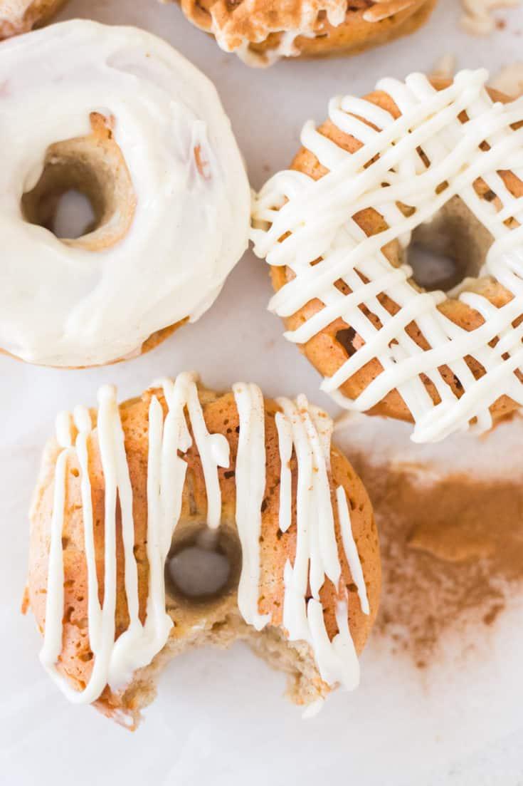 Keto Cinnamon Roll Donuts