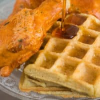 Keto Fried Chicken and Waffles
