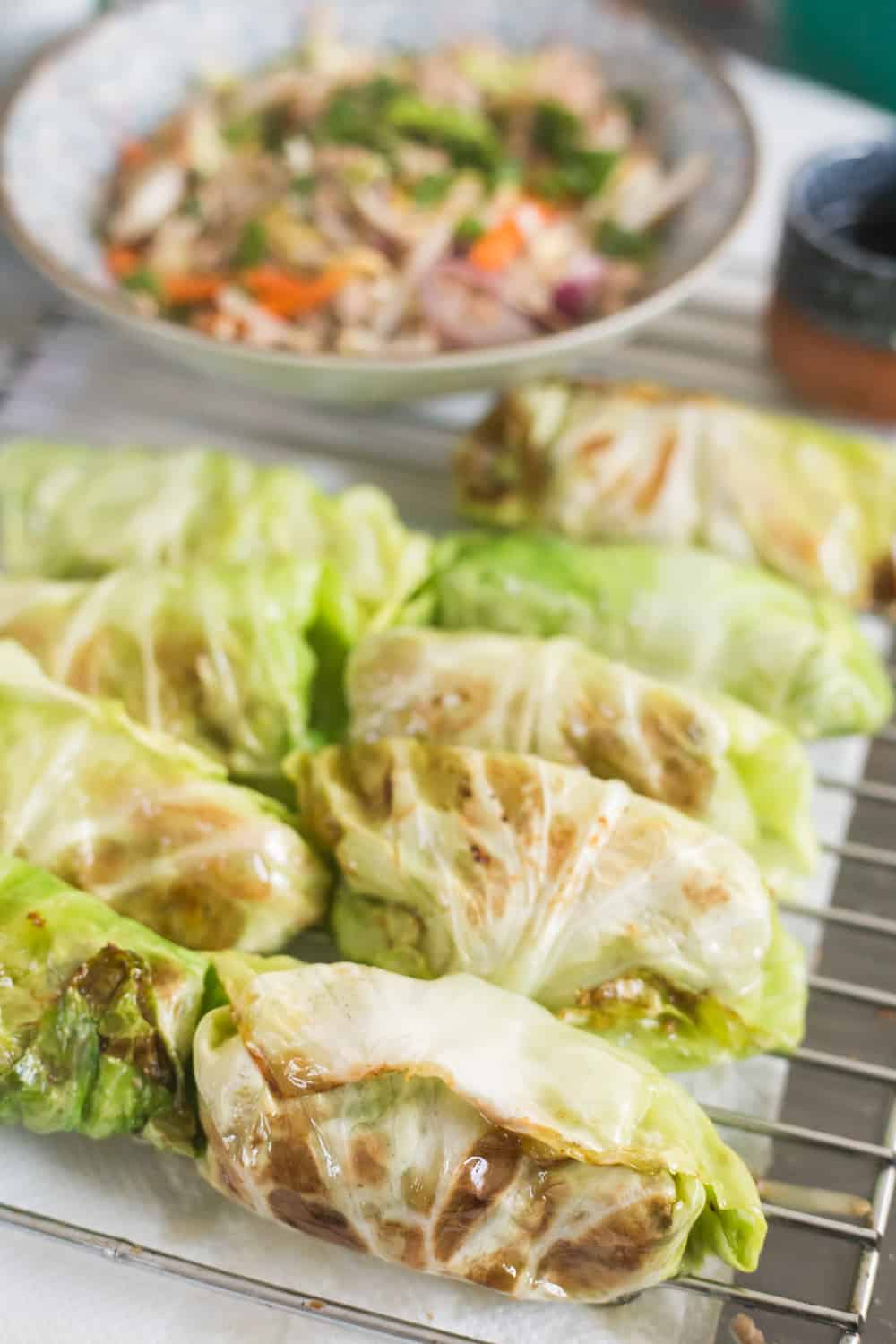 Keto Egg Roll In A Bowl Or Wrap Cabbage Rolls The Hungry Elephant