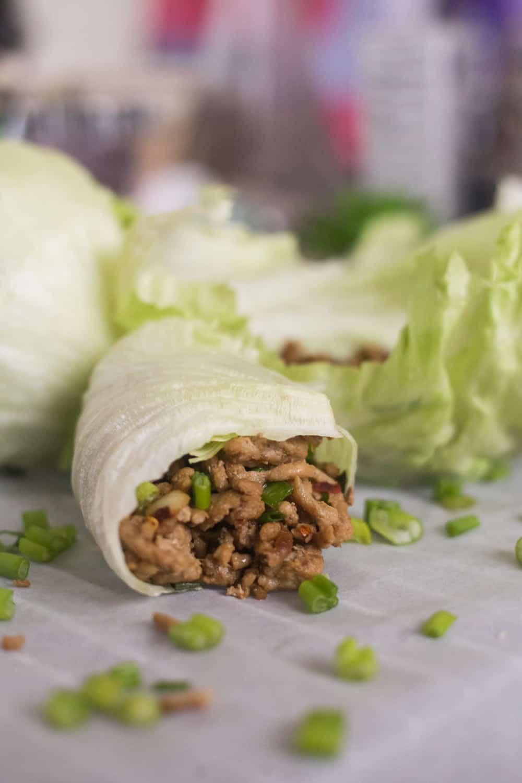 keto lettuce wraps, keto lettuce wraps recipe, keto asian lettuce wraps, asian lettuce wraps, ground pork lettuce wraps, easy keto lettuce wraps, low carb lettuce wraps, low arb lettuce wraps recipe, low carb asian lettuce wraps