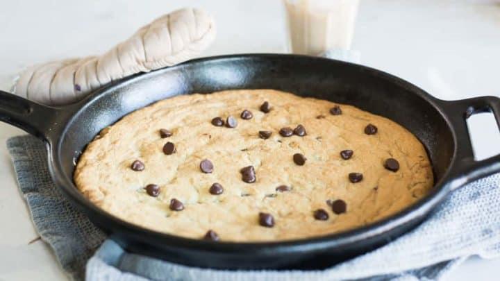 Keto Skillet Cookie || Chocolate Chip